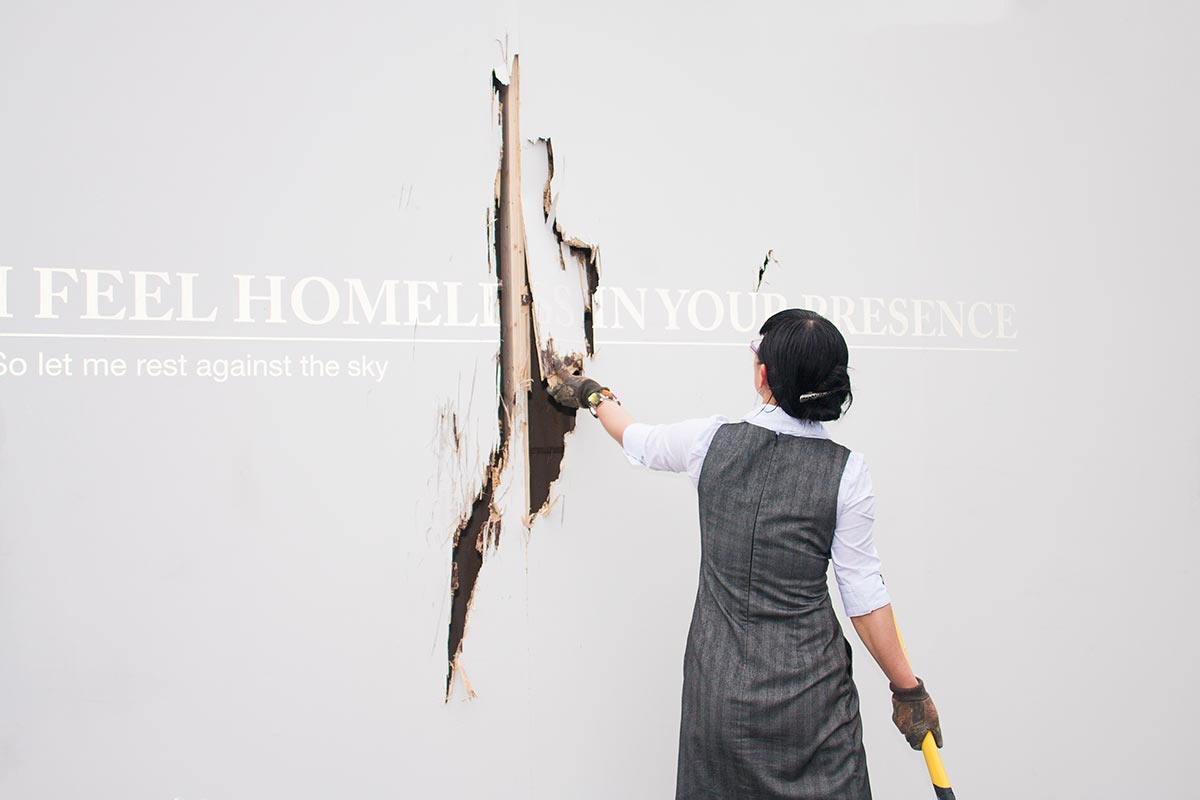 Chun Hua Catherine Dong is destroying a gallery wall in Vancouver