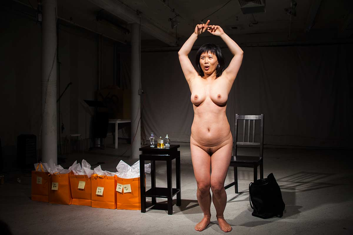 Chun Hua Catherine Dong sells her perfumed body for a night to audiences
