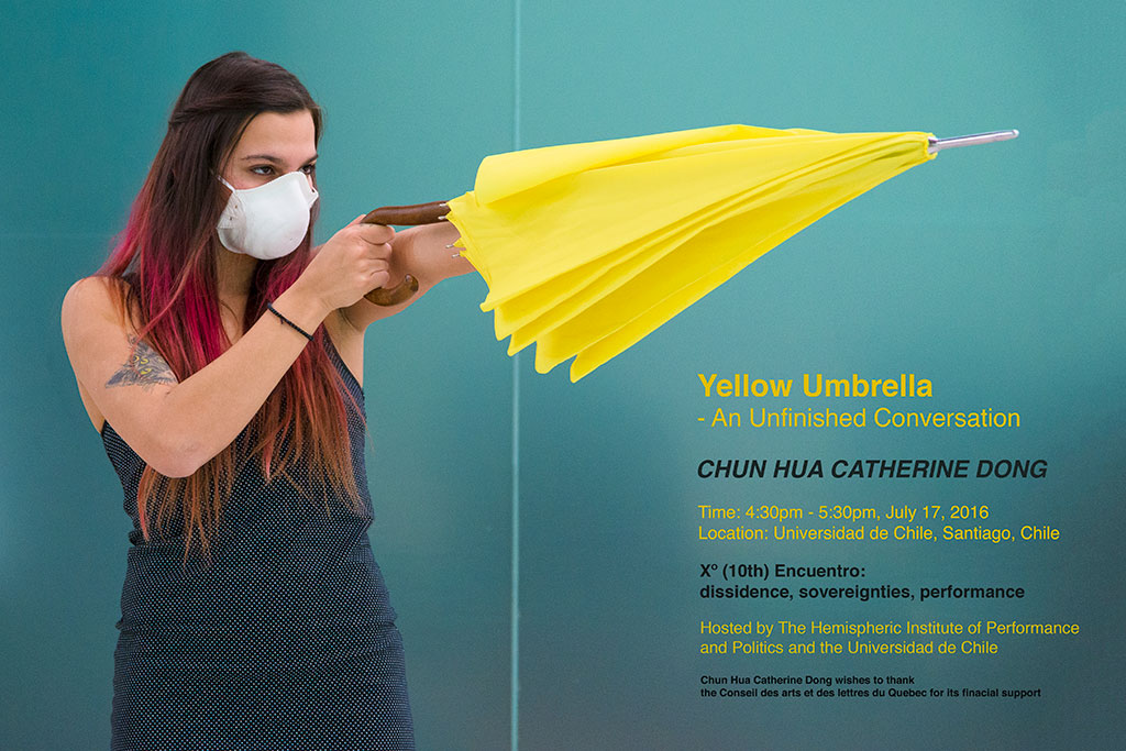 Chun Hua Catherine Dong's Yellow Umbrella performance