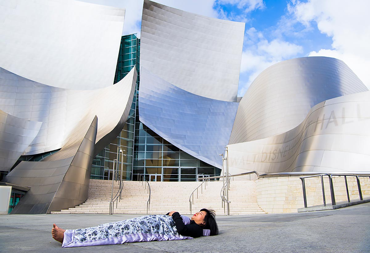 Chun Hua Catherine Dong  buries herself at Walt Disney Concert Hall in Los Angeles