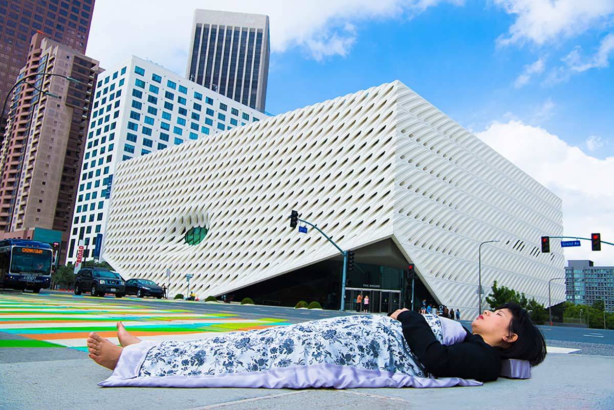 Chun Hua Catherine Dong  buries herself at The Broad Museum in Los Angeles